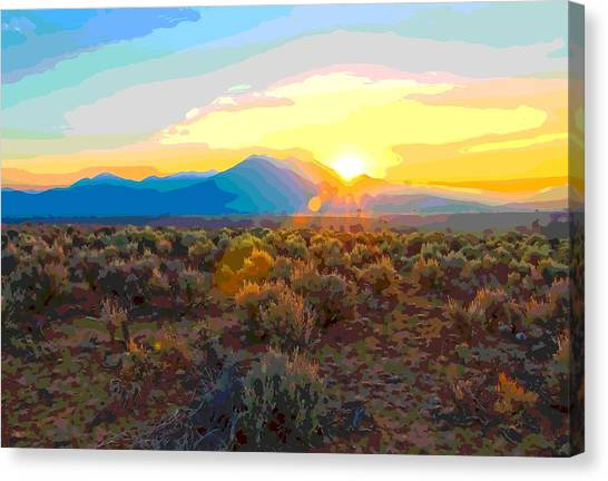 Magic Over Taos Canvas Print