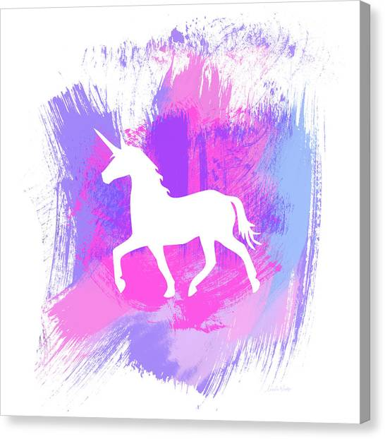 Magicians Canvas Print - Magic Unicorn 1- Art By Linda Woods by Linda Woods