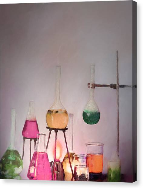 Magical Beakers Canvas Print