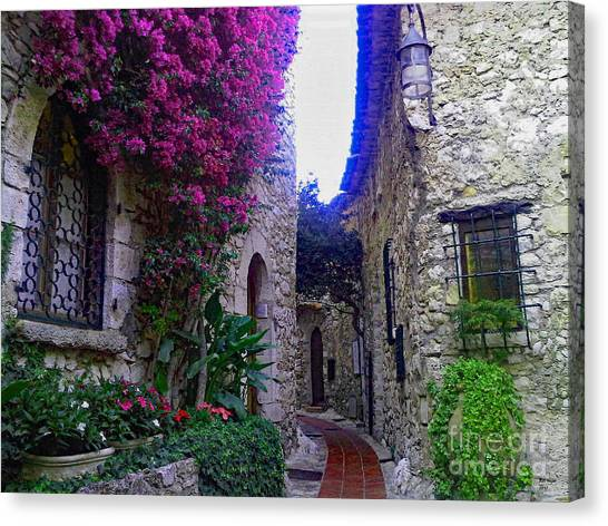 Magical Beauty In Eze France Canvas Print