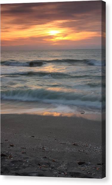 Magical Captiva Beach Sunset Canvas Print by Larry Federman