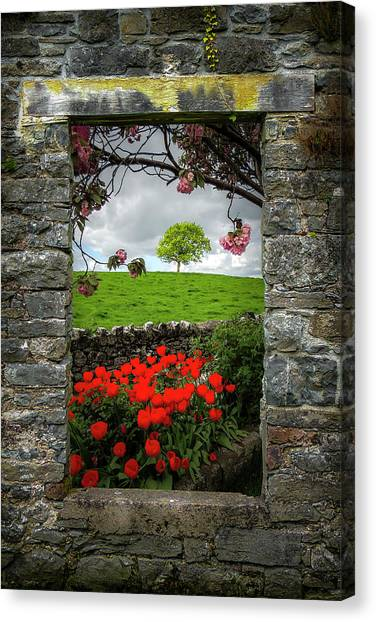 Canvas Print featuring the photograph Magical County Clare Countryside by James Truett