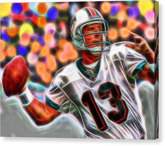 Dan Marino Canvas Print - Magical Dan Marino by Paul Van Scott