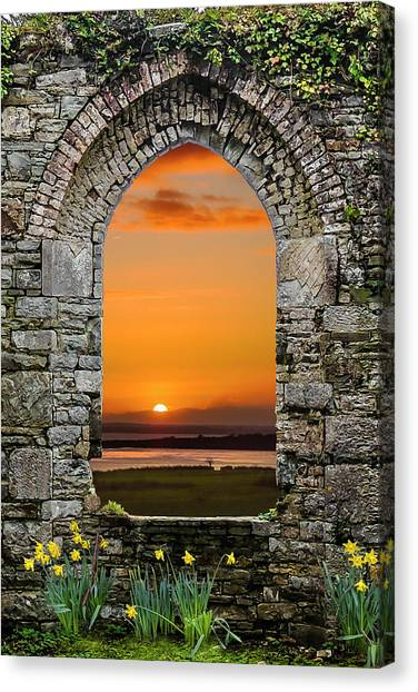 Canvas Print featuring the photograph Magical Irish Spring Sunrise by James Truett