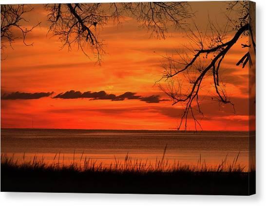 Magical Orange Sunset Sky Canvas Print
