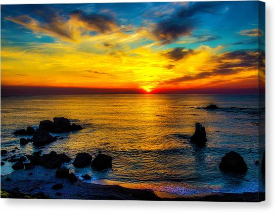 Sun Set Canvas Print - Magical Pacific Sunset by Garry Gay