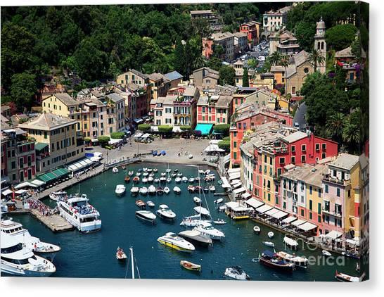 Portofino Cafe Canvas Print - Magical Portofino  by Brenda Kean