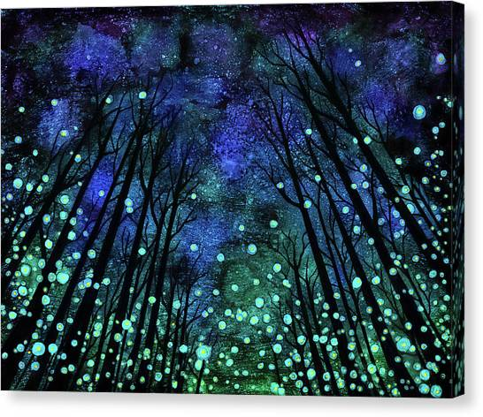 Ink Canvas Print - Magical Summer Nights by Jennifer Allison