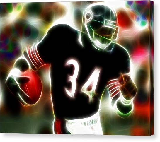 Running Backs Canvas Print - Magical Walter Payton by Paul Van Scott