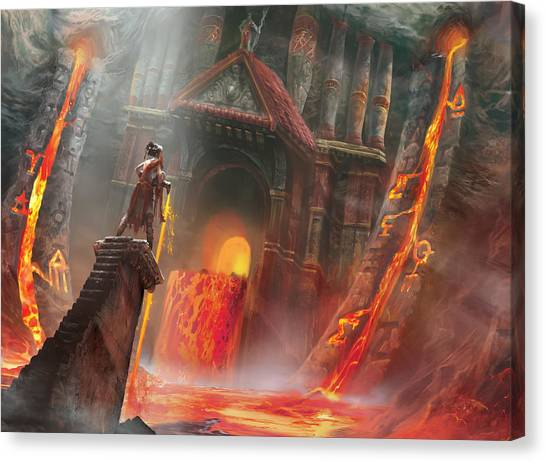 Lava Canvas Print - Magmatic Insight by Ryan Barger