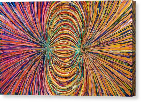 Magnetic Strings Canvas Print by Patrick OLeary