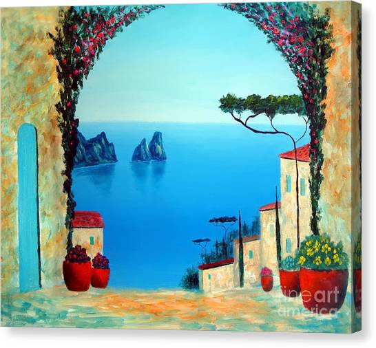 Magnificent Capri Canvas Print
