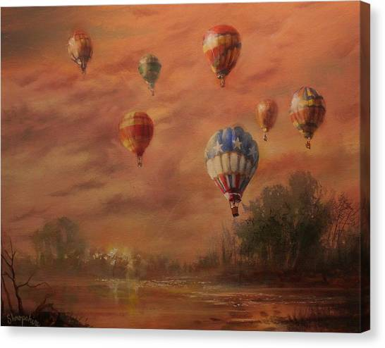 Hot Air Balloons Canvas Print - Magnificent Seven by Tom Shropshire