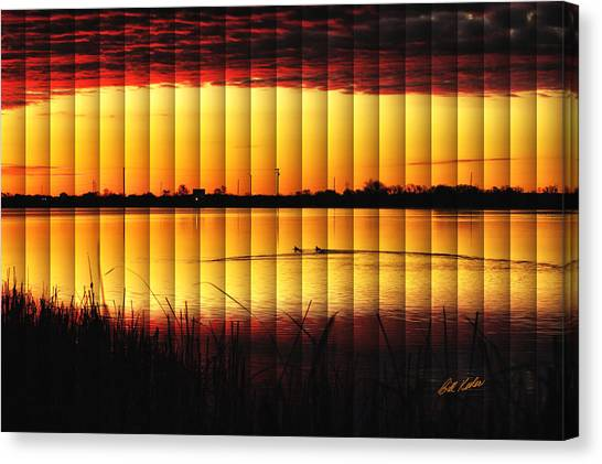 Magnificent Sunrise Swim Canvas Print