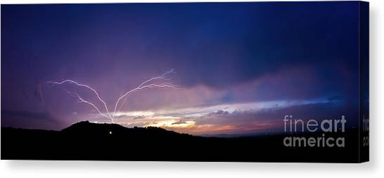 Magnificent Sunset Lightning Canvas Print