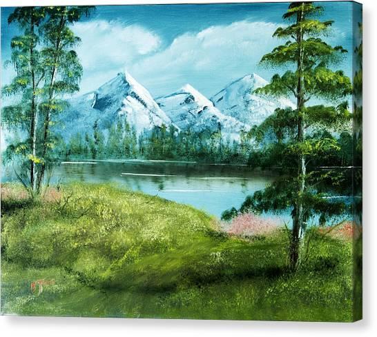 Magnificent Vista - Mountain Landscape Canvas Print by Barry Jones