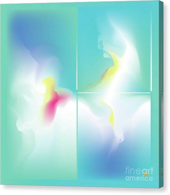 Canvas Print featuring the digital art Magnifico - Abstract Art Print - Fantasy - Digital Art - Fine Art Print - Sea Print by Ron Labryzz