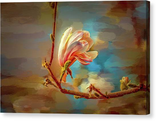 Canvas Print featuring the digital art Magnolia Abs #h4 by Leif Sohlman