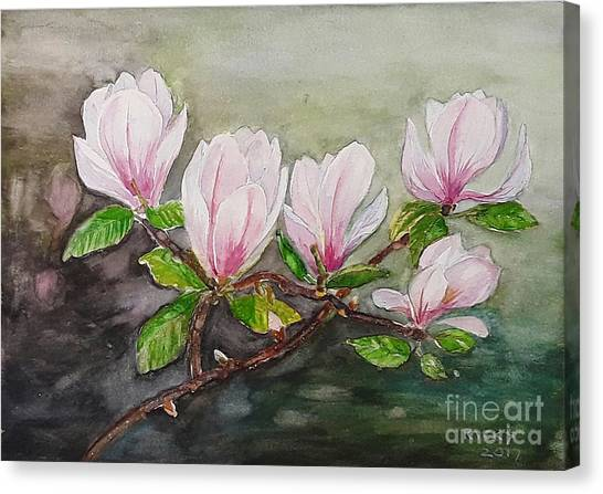 Magnolia Blossom - Painting Canvas Print