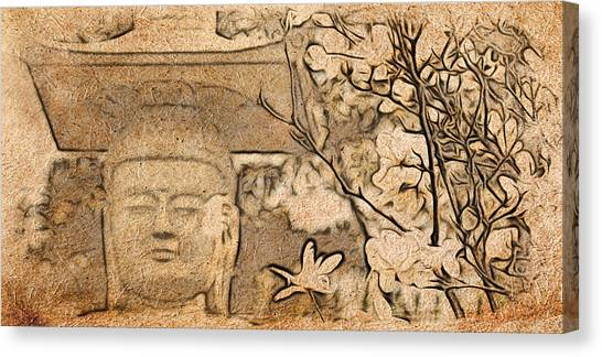 Magnolia Buddha Canvas Print