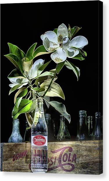 Cheerwine Canvas Print - Magnolia Cheerwine Carolina Still Life by JC Findley