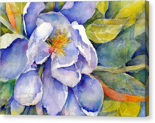 Magnolia In Shadow Canvas Print