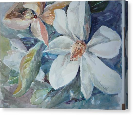 Magnolia Magic Canvas Print by Dorothy Herron