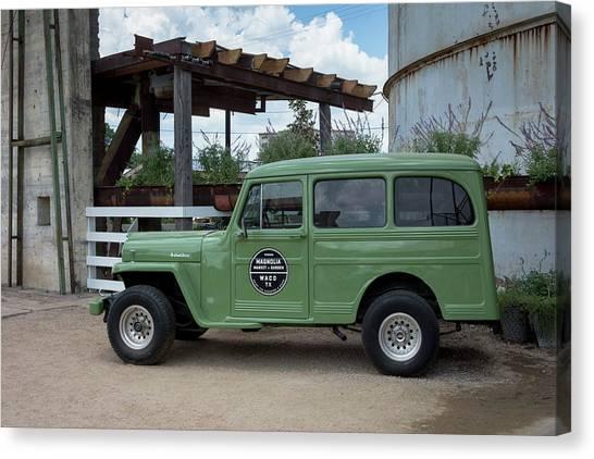 Hgtv Canvas Print - Magnolia Market Vintage Jeep Willys Wagon by Debra Martz