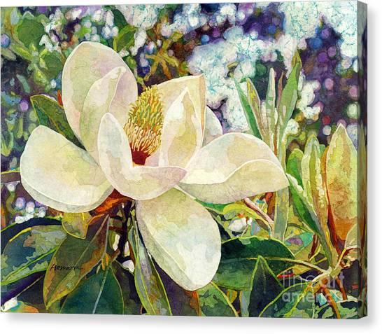 Blooming Tree Canvas Print - Magnolia Melody by Hailey E Herrera