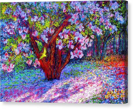 Spring Trees Canvas Print - Magnolia Melody by Jane Small