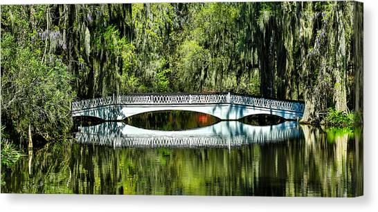 Magnolia Plantation Bridge - Charleston Sc Canvas Print