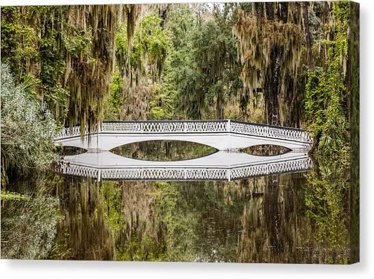 Magnolia Plantation Gardens Bridge Canvas Print