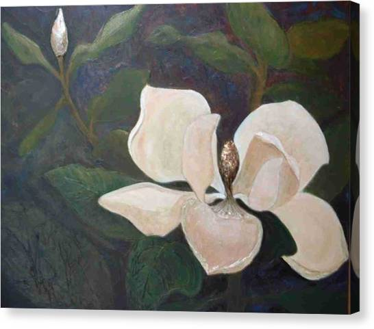 Magnolia Spring Canvas Print by Win Peterman