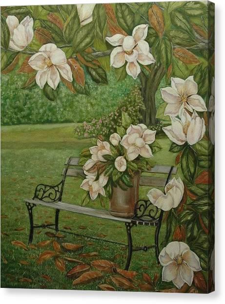 Magnolia Tree Canvas Print by Tresa Crain
