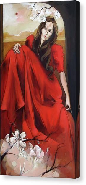 Magnolia's Red Dress Canvas Print