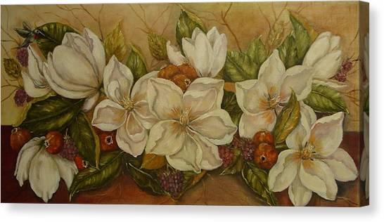 Magnolias Canvas Print by Tresa Crain