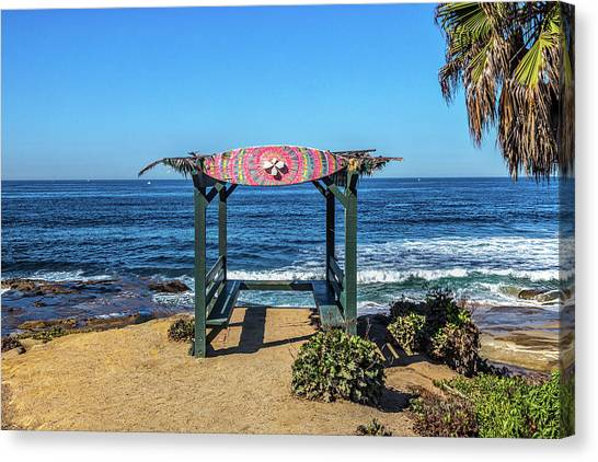 Surf Lifestyle Canvas Print - Mahalo by Peter Tellone