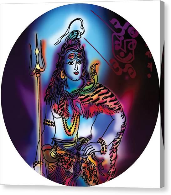 Maheshvara Shiva Canvas Print