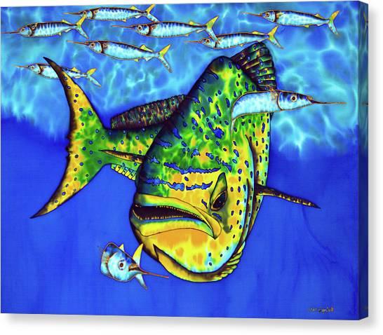 Mahi Mahi And Ballyhoo Canvas Print