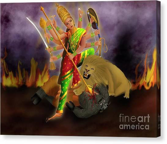 Mahishasurmardini Canvas Print