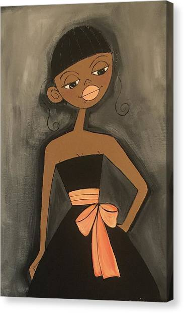 Maid Of Honor Black Dress Canvas Print