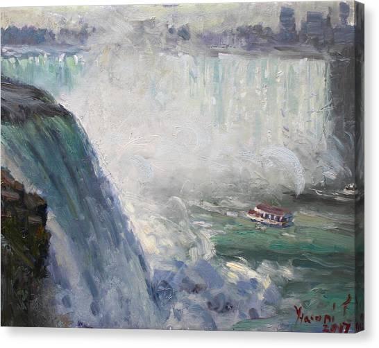 Horseshoe Falls Canvas Print - Maid Of The Mist by Ylli Haruni
