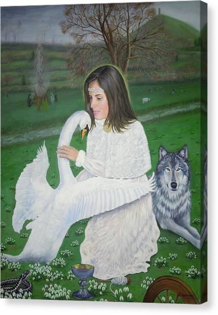 Maiden Goddess Brigit - Imbolc Canvas Print