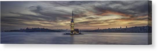 Turkeys Canvas Print - Maiden Tower by Rilind Hoxha