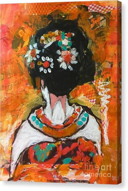 Maiko In Orange  Canvas Print