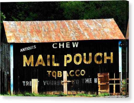 Mail Pouch Canvas Print by Michael L Kimble