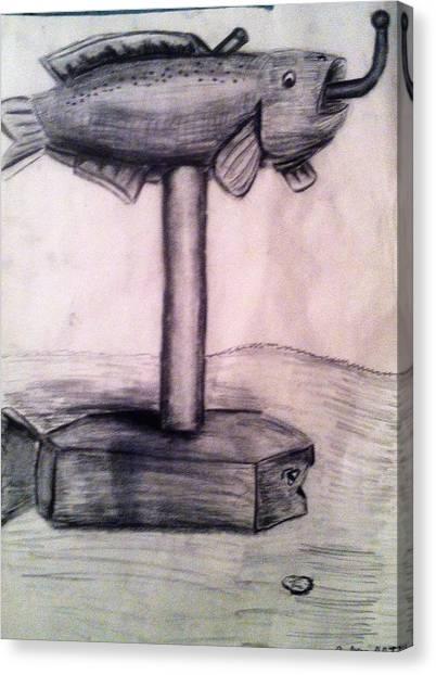 Mailbox Fish Canvas Print by Andrew Blitman