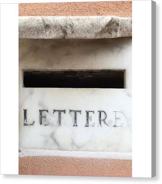 Old Age Canvas Print - Mailbox In Rome by Adriano La Naia