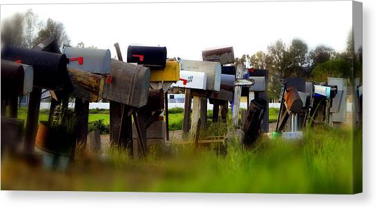 Mailboxes 2 Canvas Print