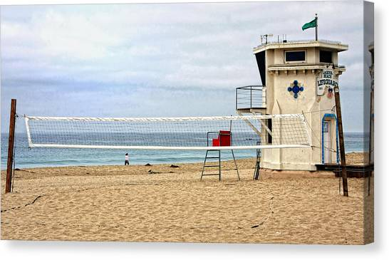 Volleyball Canvas Print - Main Beach Laguna by Rosanne Nitti